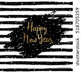 happy new year vector... | Shutterstock .eps vector #518705359