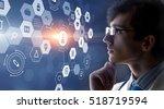 modern medical technologies... | Shutterstock . vector #518719594