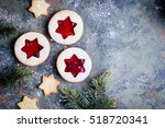 Christmas Linzer Cookies With...