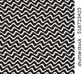 hand drawn horizontal zigzag... | Shutterstock .eps vector #518723425