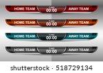 scoreboard sport template for... | Shutterstock .eps vector #518729134