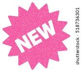 new sticker grainy textured... | Shutterstock . vector #518736301