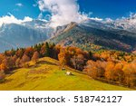 landscape with the end of fall... | Shutterstock . vector #518742127