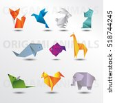 animals origami set | Shutterstock .eps vector #518744245
