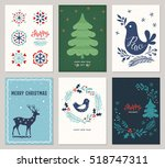 vertical merry christmas and... | Shutterstock .eps vector #518747311