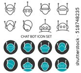 chat bot icons set vector.... | Shutterstock .eps vector #518748235