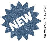 new sticker grainy textured... | Shutterstock . vector #518749981