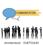 discussion communication advice ... | Shutterstock . vector #518751634