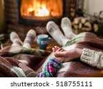 warming and relaxing near... | Shutterstock . vector #518755111
