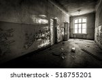 Small photo of Abandoned school. Abandoned aviation school of Soviet times. Ex Soviet legacy. Exclusive design for horror and rage rooms. Low light caption for sense of abandonment and fear. Loneliness. Riga.