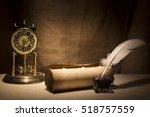 literature concept. old... | Shutterstock . vector #518757559