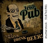 traditional irish pub. save... | Shutterstock .eps vector #518761981