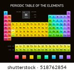 periodic table of the elements  ... | Shutterstock .eps vector #518762854
