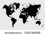 black map of world on... | Shutterstock .eps vector #518768989