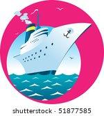 vector illustration of cruise...   Shutterstock .eps vector #51877585