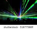 laser show rays stream. very... | Shutterstock . vector #518775889