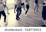 diversity people exercise class ... | Shutterstock . vector #518776921