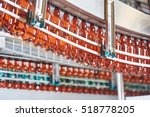plastic bottles for beer or... | Shutterstock . vector #518778205