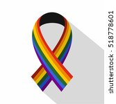 ribbon lgbt icon. flat... | Shutterstock . vector #518778601