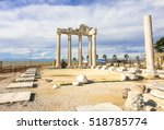 apollo temple in side town.... | Shutterstock . vector #518785774