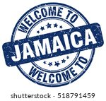 welcome to jamaica. stamp. | Shutterstock .eps vector #518791459