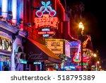nashville   nov 11  neon signs... | Shutterstock . vector #518795389