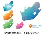 set of vector south africa maps.... | Shutterstock .eps vector #518798914