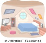 illustration featuring the... | Shutterstock .eps vector #518800465