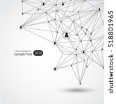 network concept design... | Shutterstock .eps vector #518801965