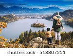 family travel europe. mother... | Shutterstock . vector #518807251