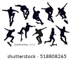 black silhouettes of... | Shutterstock .eps vector #518808265