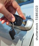 person inserting car key | Shutterstock . vector #51881023