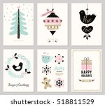 merry christmas and happy... | Shutterstock .eps vector #518811529