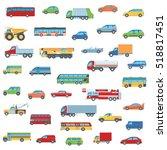 set of cartoon flat design car  ...