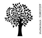 abstract black tree  isolated... | Shutterstock .eps vector #518819209