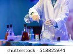 experiments in a chemistry lab. ... | Shutterstock . vector #518822641