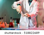 experiments in a chemistry lab. ... | Shutterstock . vector #518822689