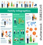 family infographic set with... | Shutterstock . vector #518823145