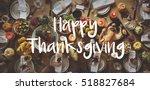thanksgiving blessing... | Shutterstock . vector #518827684