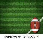 american football with yard... | Shutterstock . vector #518829919