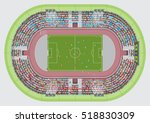 football stadium top view.... | Shutterstock .eps vector #518830309