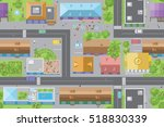 seamless pattern of the urban... | Shutterstock .eps vector #518830339