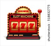 slot machine isolated on white... | Shutterstock .eps vector #518832775