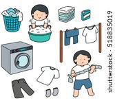 vector set of people washing... | Shutterstock .eps vector #518835019