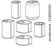 vector set of can | Shutterstock .eps vector #518835034