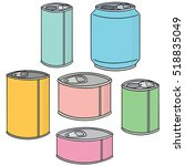 vector set of can | Shutterstock .eps vector #518835049