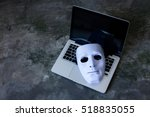 anonymous mask to hide identity ... | Shutterstock . vector #518835055