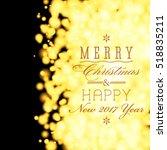 vector luxury merry christmas... | Shutterstock .eps vector #518835211