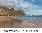 las teresitas beach in tenerife ... | Shutterstock . vector #518835805