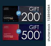 gift voucher template ... | Shutterstock .eps vector #518844064